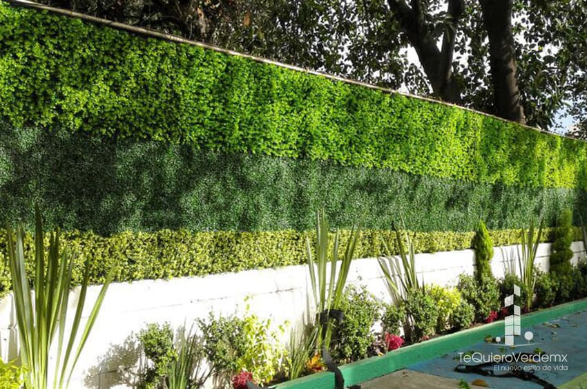 Muros verdes artificiales para interiores y exteriores te for Muro verde artificial